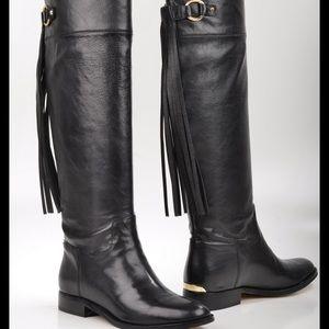 Michael Kors Rhea Leather Boots Size 8
